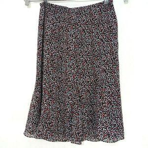 Dressbarn Sheer Lined Pull-on Skirt Women Size 14